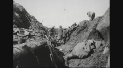 Military soldiers carrying dead bodies after war - free stock footage