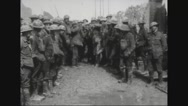 Military soldiers carrying ammunitions Stock Footage