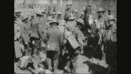 German prisoners standing Stock Footage