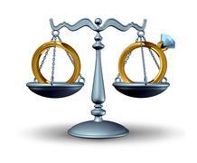 Prenuptial agreement Stock Illustration