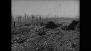 Ruined land in Messines Stock Footage