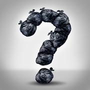 Stock Illustration of garbage questions