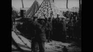 Irish troops in rest camp Stock Footage