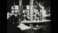 Recruits providing information to be filled in forms Stock Footage