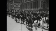 Parade of German and Hungarian citizens Stock Footage