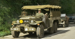 American military vehicles column 04 Stock Footage
