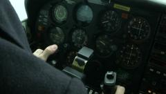Detail of the cockpit of a float plane  - stock footage