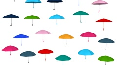 umbrella rain - stock footage