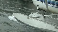 Detail of float plane navigating on Como lake  - stock footage