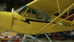 Float plane parked in hangar  - stock footage