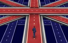 british plan - stock illustration