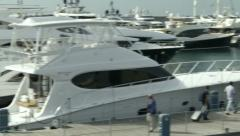 People attend Genoa Boat Show  Stock Footage