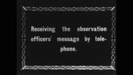 Military soldiers talking over the phone during war Stock Footage
