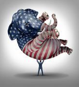 American republican vote Stock Illustration