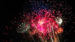 Amazingly Colorful and Spectacular Fireworks Display, Seamless Loop Stock Footage