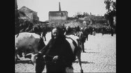Belgians surrendering cows to German troops Stock Footage