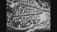 View of Verdun and two soldiers in airplane Stock Footage