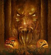 halloween ghost - stock illustration