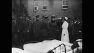 King George and Queen Mary visiting U.S. wounded patients Stock Footage