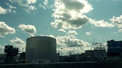 Large industrial zone Stock Footage