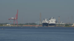 Blount Island part of JAXPORT Stock Footage