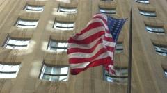 0551 UHD American flag Stock Footage
