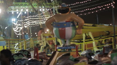 Obelix  carousel at an Indian funfair, Delhi Stock Footage