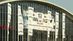 Exhibition area at METS trade show in Amsterdam  Stock Footage