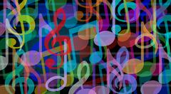 musical background - stock illustration