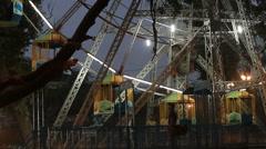 Ferris wheel landing at a village Diwali Mela in India. Stock Footage