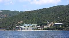 St. Panteleimon Monastery. Holy Mount Athos. Stock Footage