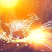 New year simbol. - stock illustration