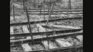 Close-up of railway tracks in Arras Stock Footage
