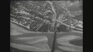 Aerial view of Arras city from plane Stock Footage