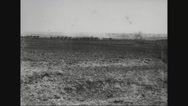 Cavalry moving on barren land Stock Footage