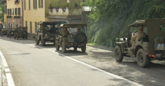 American military vehicles column 07 Stock Footage