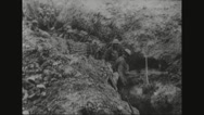 Trenches being occupied by Royal West Kents Stock Footage