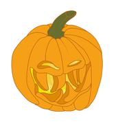 Malicious halloween pumpkin smiling Stock Illustration