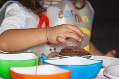 cupcake - kids decoration for halloween - stock photo