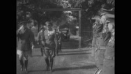 Douglas MacArthur meeting other military officials Stock Footage