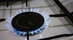 Gas burner is lit - stock footage