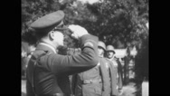 Douglas MacArthur paying tribute in cemetery Stock Footage