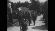 Military soldiers performing parade Stock Footage