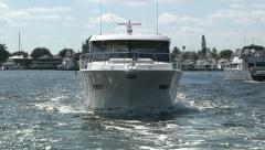 Boat navigating in Miami  Stock Footage