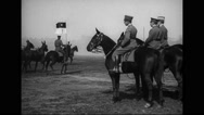 Military officer and military soldiers proceeding towards White House Stock Footage