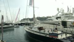 People attend Monaco Yacht Show  - stock footage