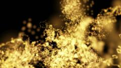 Gold Particle Backgrounds Stock Footage