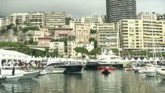 Exhibition area at Monaco Yacht Show  Stock Footage