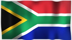 4K 3D Animation of American South Africa African Whole Flag Canvas Texture Stock Footage