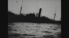 British steamer sinking in sea Free Stock Footage